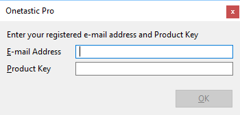Product Key Entry Dialog