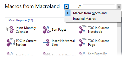 Download Macros Window display options