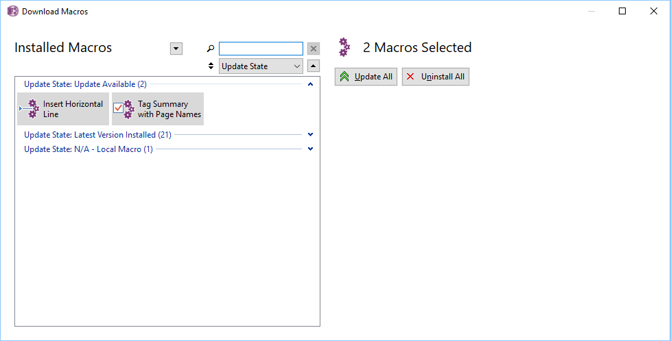 Download Macros Window update state