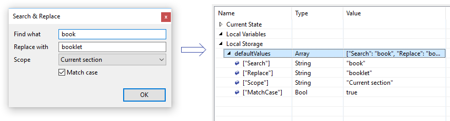 Object Browser Local Storage