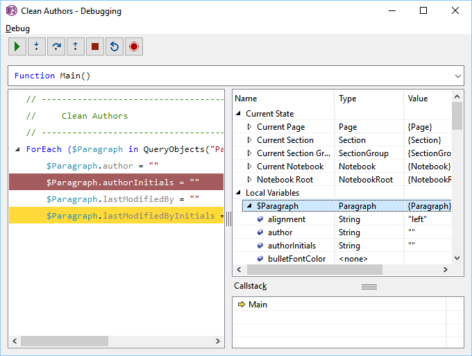 Onetastic for OneNote - Macro Documentation - Macro Debugging