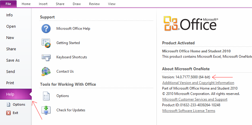 Account - About OneNote