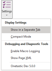 Settings > Show in a Separate Tab